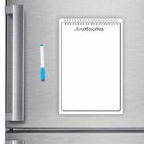 Ímã De Geladeira Caderno Porta Recados 20 X 30cm Planner Cad02 - Micro Oficina