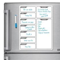 Ímã De Geladeira - Porta Recados - Modelo Branco - Micro Oficina