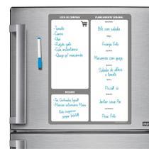Ímã De Geladeira - Porta Recados - Modelo Cinza - Micro Oficina