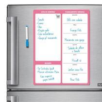 Ímã De Geladeira - Porta Recados - Modelo Rosa - Micro Oficina