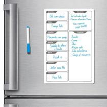 Ímã de geladeira porta recados planner 20 x 30cm modelo branco - Micro Oficina