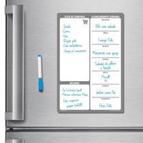 Ímã de geladeira porta recados planner 20 x 30cm modelo cinza - Micro Oficina