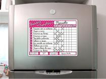 Ímã De Geladeira - Quadro De Tarefas - Rosa - Micro Oficina