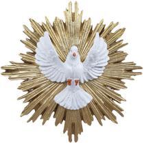 Imagem 20cm Divino Espirito Santo Dourado Resina - Artesanato Aparecida