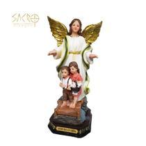 Imagem Anjo da Guarda resina 20cm importado - Sacro