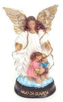 Imagem Escultura Anjo da Guarda 12 cm Resina - Evangelize