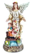 Imagem Escultura Anjo da Guarda 15 cm Resina - Evangelize