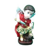 Imagem Infantil Anjo São Miguel Arcanjo em Resina com 8 cm - Armazém Santo