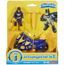 Imaginext Dc Super Friends Batgirl e Veiculo Moto Roxa M5645 - Fisher Price
