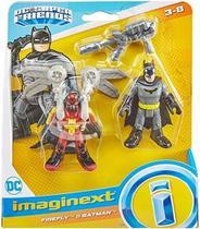 Imaginext Dc  Super Friends Boneco Batman E Firefly  Mattel - Mga