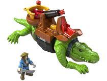 Imaginext Fisher-Price Crocodilo Pirata 27,9cm - com Acessórios Mattel
