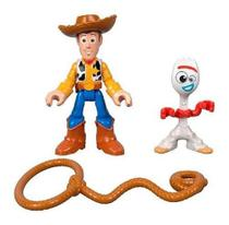 Imaginext Toy Story Garfinho E Woody Gbf90 - Mattel -