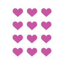 Imãs Coração - Rosa 12 Unidades - Tudoprafoto