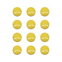 Imãs Enfeite de Geladeira e Painel - Botão Amarelo 12 Unidades - Tudoprafoto