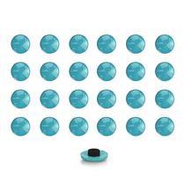 Imãs Enfeite de Geladeira e Painel Botão Azul Bebe - 24 Unidades - Tudoprafoto