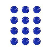 Imãs Enfeite de Geladeira e Painel - Botão Azul Escuro 12 Unidades - Tudoprafoto