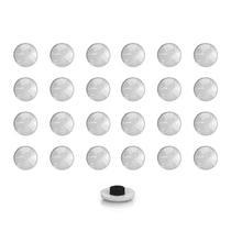 Imãs Enfeite de Geladeira e Painel Botão Branco - 24 Unidades - Tudoprafoto