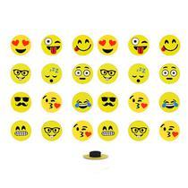 Imãs Enfeite de Geladeira e Painel Botão Emojis - 24 Unidades - Neilson