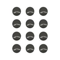 Imãs Enfeite de Geladeira e Painel - Botão Preto 12 Unidades - Tudoprafoto
