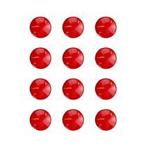 Imãs Enfeite de Geladeira e Painel - Botão Vermelho 12 Unidades - Tudoprafoto