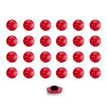Imãs Enfeite de Geladeira e Painel Botão Vermelho - 24 Unidades - Tudoprafoto