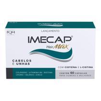 Imecap Hair Max 60 Capsulas Vitamina B6 Biotina Cisteína E L-cistina Força Para Cabelos E Unhas -