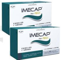 Imecap Hair Max Cabelos e unhas Fortes 2x60 Capsulas Com Biotina Zinco selenio - FMQ