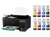 Impressora Multifuncional Epson EcoTank L3150 - Tanque de Tinta Colorida + 08 Garrafas de Tinta
