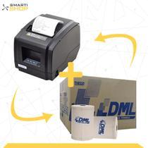 Impressora Térmica XP-N200 + 1 Caixa De Bobina DML 80x40 30un - Xprinter