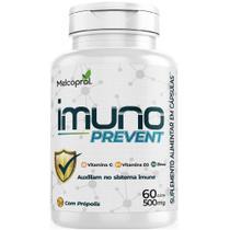 Imuno Prevent 500mg 4x 60 cápsulas Vit C, D3 e Zinco Melcoprol -