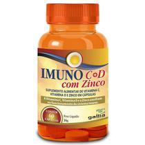 Imuno vitamina c + vitamina d com zinco 60 caps - gallia -