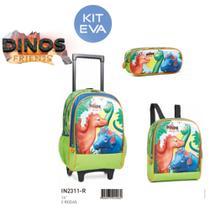 In2311-r kit-03pcs mochilete dinos friends eva 16 - Fenix