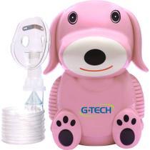 Inalador E Nebulizador G-tech Nebdog Rosa -
