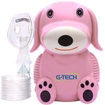 Inalador e Nebulizador Infantil Nebdog Superflow - Rosa - G-tech
