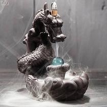 Incensário Dragão com Esfera Cascata de Fumaça - Relaxar E Meditar