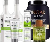 Inoar Kit Cicatrifios Original + Óleo Argan + Mask (5 Itens - INOAR COSMETICOS