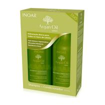 Inoar kit duo argan oil shampoo + condicionador 250ml -
