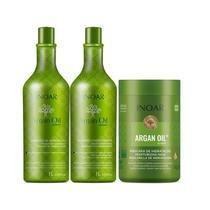 Inoar Kit Shampoo + Condicionador 1L + Máscara Argan Oil 1kg -