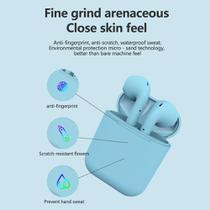 Inpods 12 TWS Macaron Fone de ouvido Bluetooth 5.0 sem fio  microfone para todos os telefones - Azul - Smart Bracelet