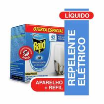 Inseticida Eletrico Liquido 45 noites Aparelho com Refil 32,9ml 1 UN Raid -