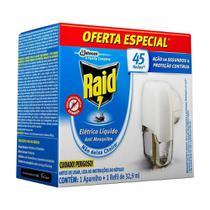 Inseticida Elétrico Raid 45 Noites Aparelho + Refil Líquido 32,9ml -