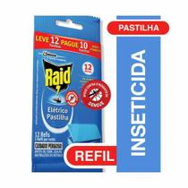 Inseticida em Pastilha Refil Eletrico 12h com 12 UN Raid -