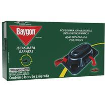 Inseticida Iscas Mata Barata 2,6g Cada CX 6 UN Baygon -