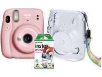 Instax Mini 11 Fujifilm Rosa Flash Automático - com Acessórios
