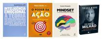 Inteligência Emocional + Mindset A nova psicologia do sucesso + O Poder da Ação + Do Mil ao Milhão - Várias Editoras