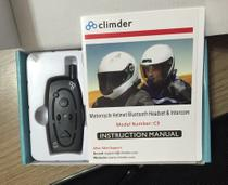 Intercomunicador Bluetooth Capacete Moto Kart 1000m C3 - Climder