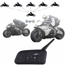 Intercomunicador Bluetooth Moto V6-1200 Capacete Mp3 1.2 Km - Vnetphone