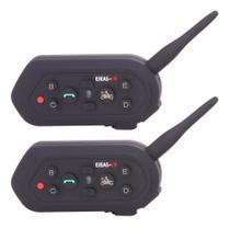 Intercomunicador Capacete Ejeas- E6 - 1200 Moto Bluetooth 2pcs -