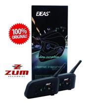 Intercomunicador Para Capacete V6 Pro 1200 Ejeas (o Par) -