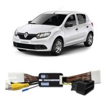 Interface Câmera de Ré Renault Sandero 2013 a 2019 Faaftech FT-RC-RN Desbloqueio Traseiro Dianteiro Plug and Play -